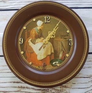 VTG The Kitchen Maid Chardin Fine Art Wall Clock